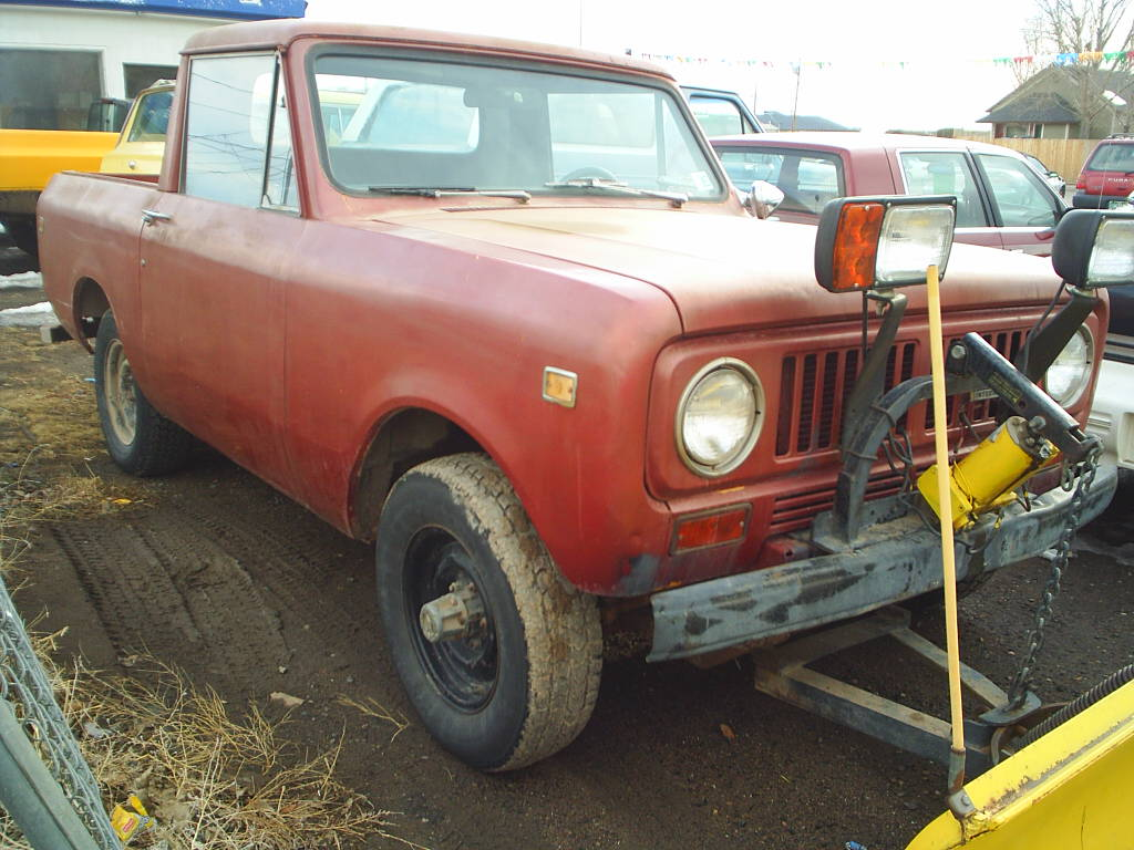 1973 International Scout II Plow Truck